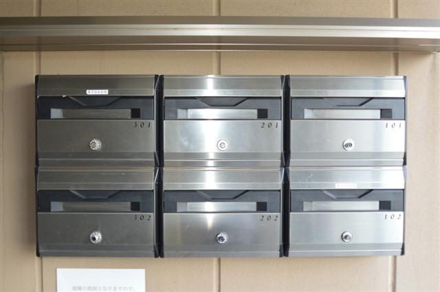 ダイヤル式の郵便ボックスで、個人情報保護もバッチリ!
