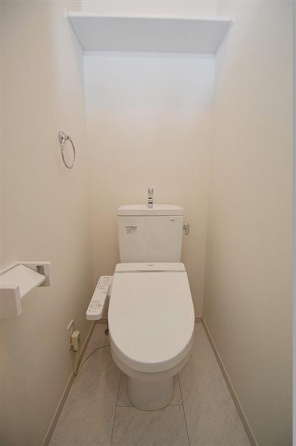 ウォッシュレット付きの清潔感のあるトイレ!