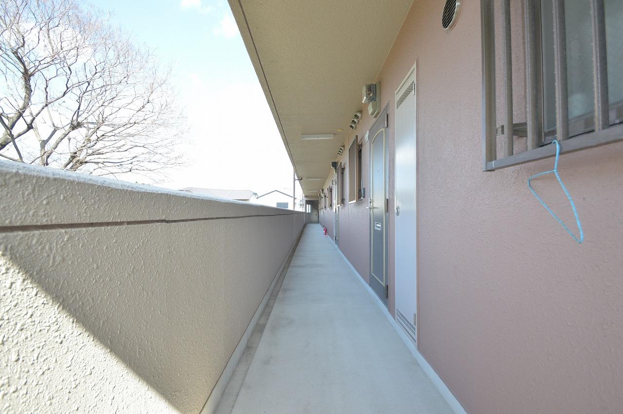 明るい雰囲気の共用廊下♪ 床・壁状態良好☆