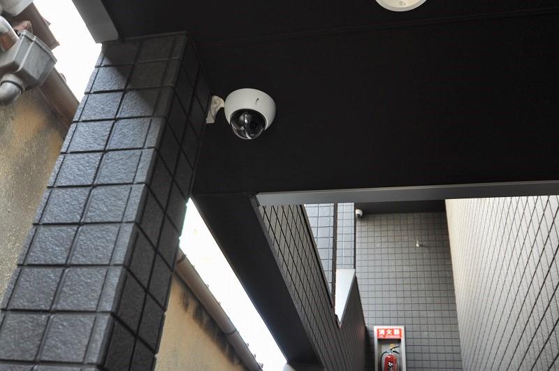防犯カメラ完備でセキュリティ◎