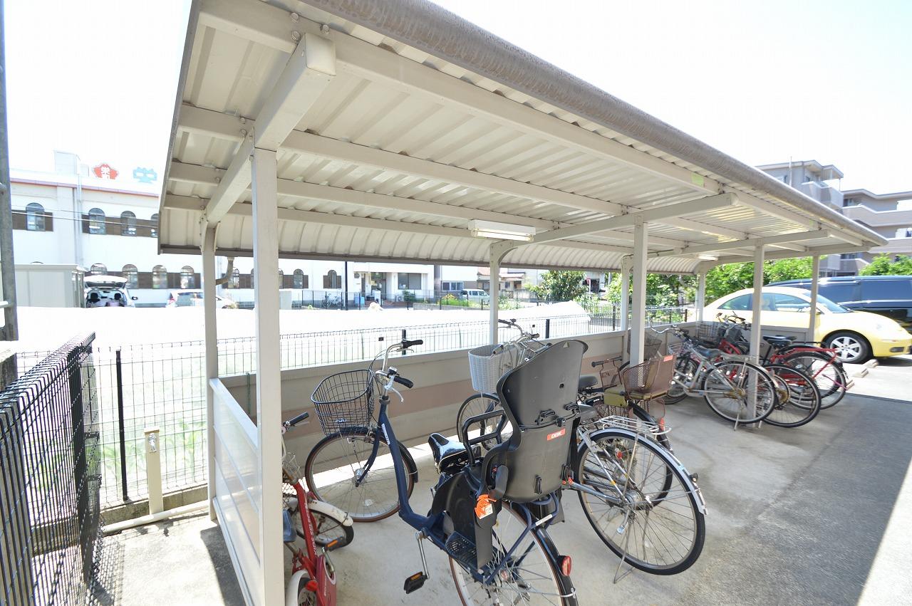 ゆとりをもって停められる駐輪スペース!